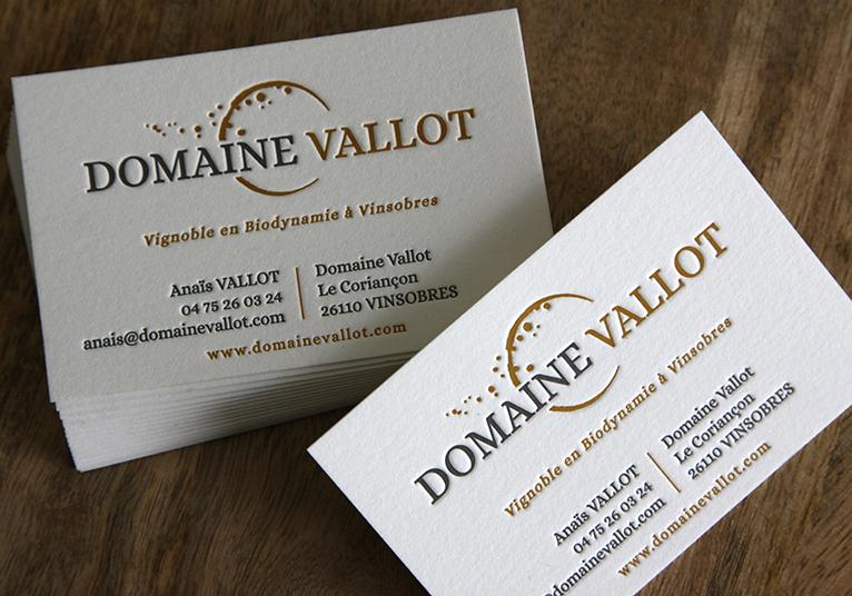 Cartes LetterPress Domaine Vallot 01