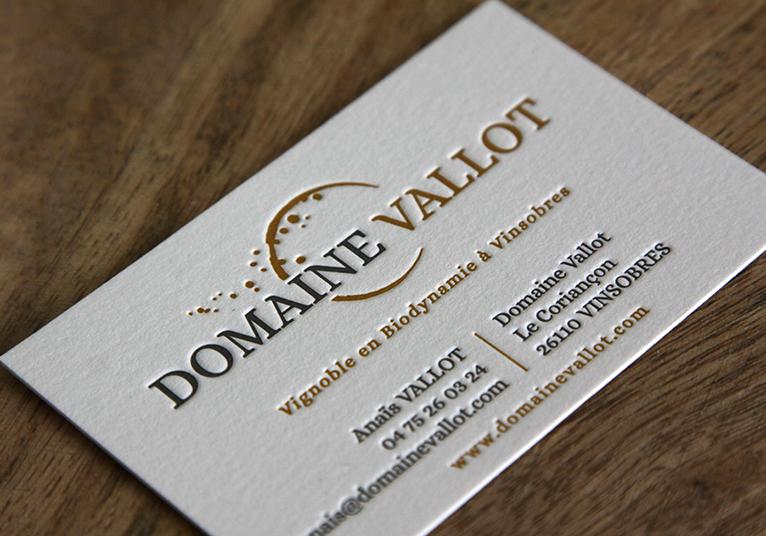 Cartes LetterPress Domaine Vallot 02