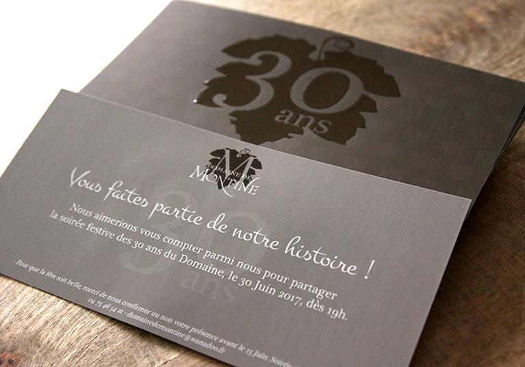 Invitation 30 ans Domaine de Montine 03