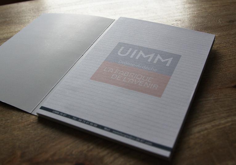 Bloc-notes avec couverture UIMM 26/07 - 03