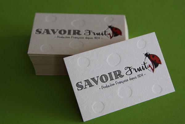 Cartes de visite SAVOIR FRUIT 01