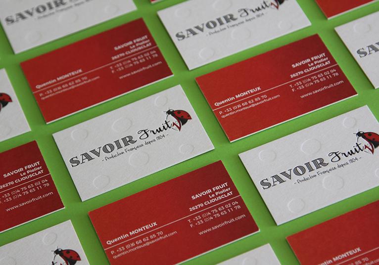 Cartes de visite SAVOIR FRUIT 02