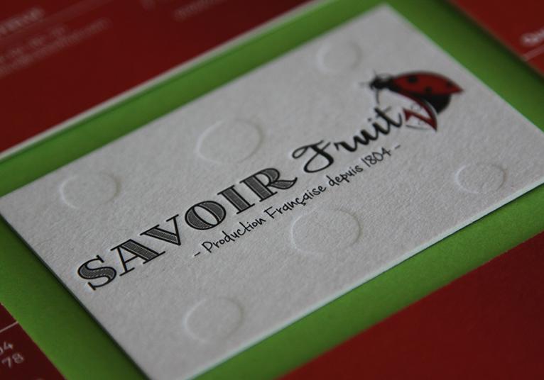 Cartes de visite SAVOIR FRUIT 03